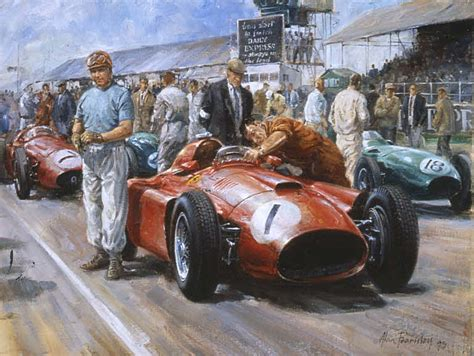 automobile art fearnley alan fangio world champion
