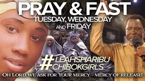 Tb joshua was the leader and founder of the. OPINION: Chibok Meets Prophet TB Joshua - The Maravi Post