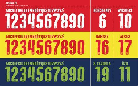 Free Football Fonts: Arsenal FC 2014/2015 UEFA Champions League Font