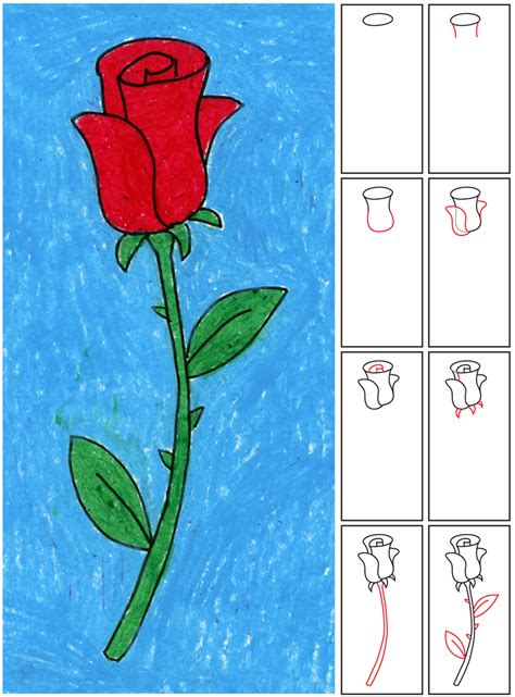 draw  rose art projects  kids
