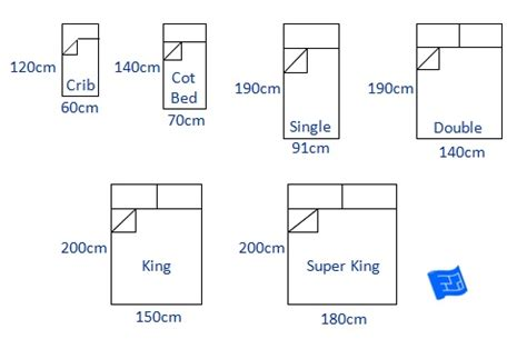 bed sizes  space   bed