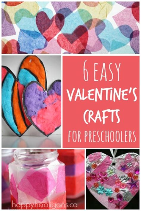 easy valentines crafts  kids happy hooligans