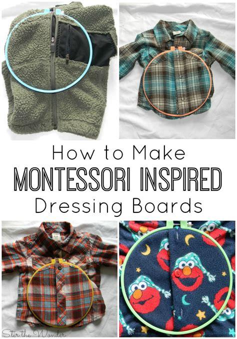 montessori inspired dressing boards stir