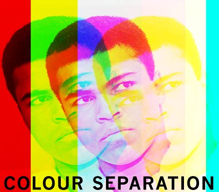color separation colour separation a digital image created by pop artist