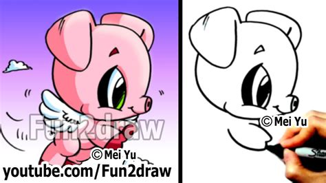 drawing tutorials  beginners   draw  pig