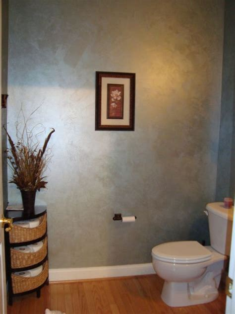 elegant powder room metallic paint walls silver paint