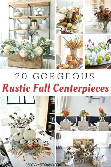 rustic fall centerpiece ideas centsable momma