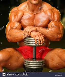 Bodybuilder Muscle Power Strength Arm Bicep Steroid Torso Muscular Stock Photo