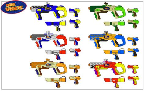 Water Gun Color Options By Rob-cavanna On Deviantart