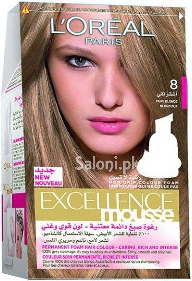 loreal paris excellence mousse pure blonde  saloni