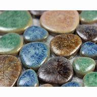 Pebble Mosaic Tile Wall
