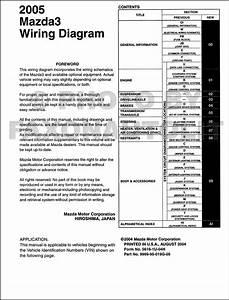 2007 Mazda 3 Wiring Diagram Manual Original