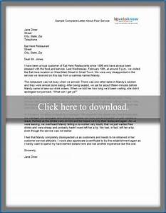 sample complaint letter lovetoknow With supermarket bag packing letter template
