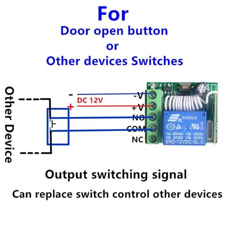 Wired Remote For Garage Door Wiring Diagram by 315 Mhz Receiver Wireless Rf Remote Switch Dc12v