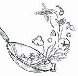 Wok Drawing Pie Drawings Paintingvalley Draw sketch template