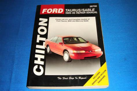 purchase chilton ford taurus sable   repair