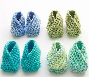 Crossover Knit Baby Booties Pattern FaveCrafts com