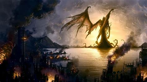 giant monster wallpaper art  inspires  writing cthulhu art cthulhu monster pictures