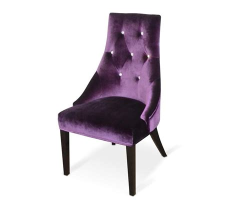 dreamfurniture aa031 purple velour dining chair