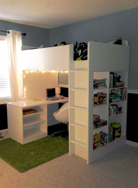 Loft Bed With Desk Ikea by 25 Best Bunk Bed Desk Ideas On Bunk Bed With