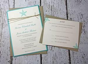 sample starfish wedding invitations beach wedding With beach wedding invitations with photo