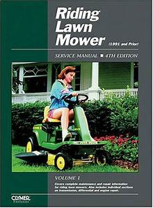 Riding Lawn Mower 1991 And Prior Clymer Owners Service