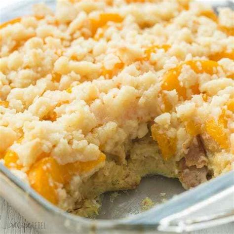 Overnight Peach Cobbler French Toast Casserole The Best