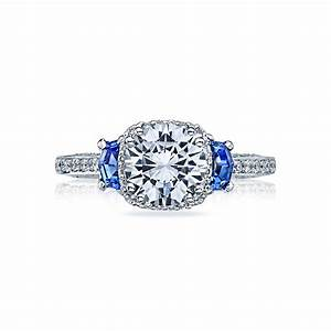 tacori engagement rings dantela halo sapphire setting With wedding ring with sapphires and diamonds