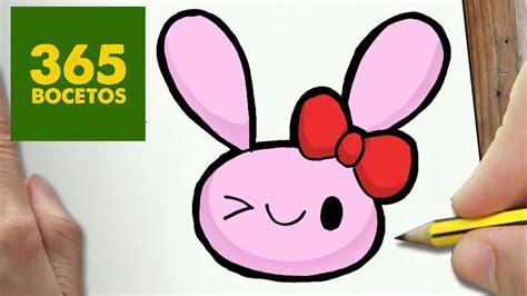 como dibujar conejo kawaii paso  paso dibujos kawaii faciles   draw  rabit youtube