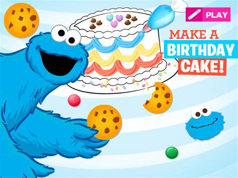 sesame preschool amp coloring pages 397 | 800x600 Cookie MakeABDayCake