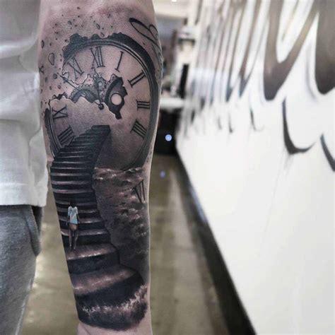 clockwork stairs tattoo  tattoo ideas gallery