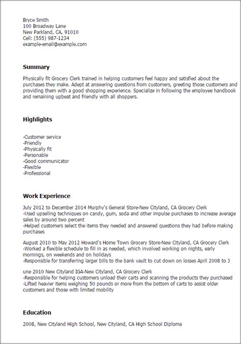 1 grocery clerk resume templates try them now