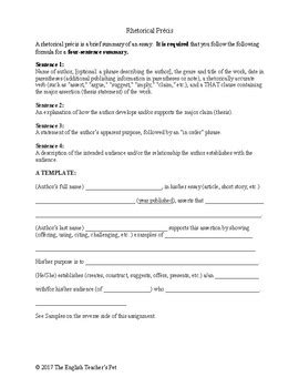 rhetorical precis template rhetorical precis definition template worksheet and essay exles