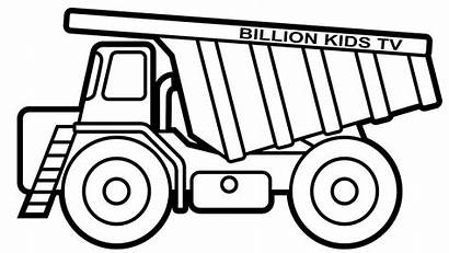 Coloring Truck Construction Pages Dump Printable Drawing