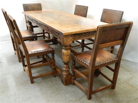 oak refectory table chairs antiques atlas