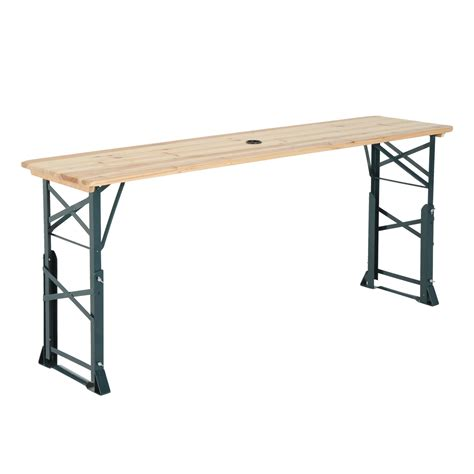 outsunny 6ft folding height adjustable picnic table w
