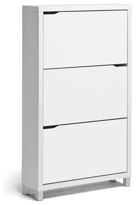 Baxton Studio Shoe Cabinet Uk Simms Modern Shoe Cabinet White Modern Shoe Storage Other By Baxton Studio
