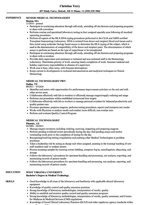 Sle Resume For Technologist by Sle Resume Technologist Technologist