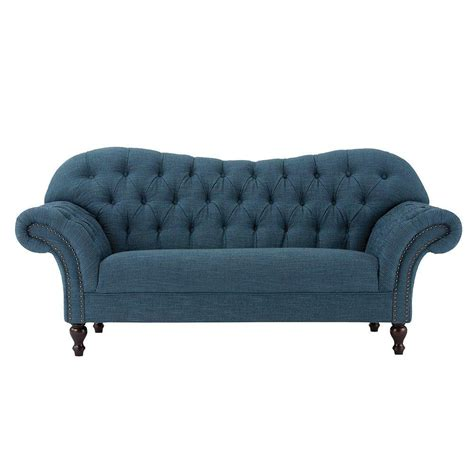 Peacock Blue Loveseat by Home Decorators Collection Arden Peacock Polyester