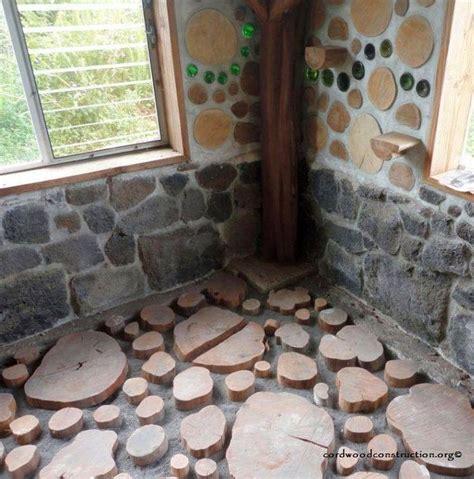 cordwood construction  house diy flooring