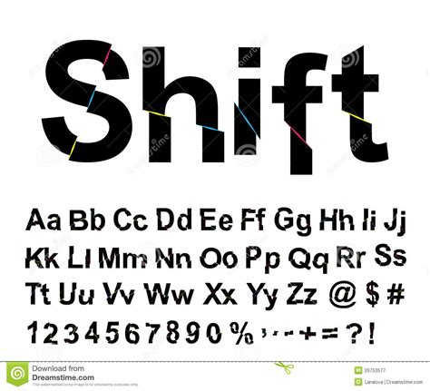 abstract shift font stock vector image  ornate move