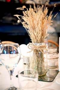 30 Fall Rustic Country Wheat Wedding Decor Ideas | Mason ...