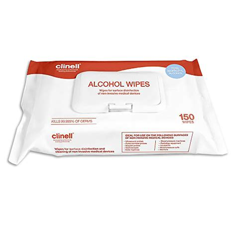 Clinell Alcohol Wipes Large - Pack of 150 - Surface
