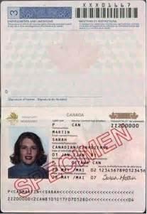 Canadian Passport Example