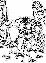 Hulk Running Away Coloring Mountain Area Netart Print sketch template