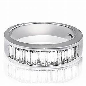 Men39s wedding bands with baguette diamonds district for Mens wedding rings baguette diamonds