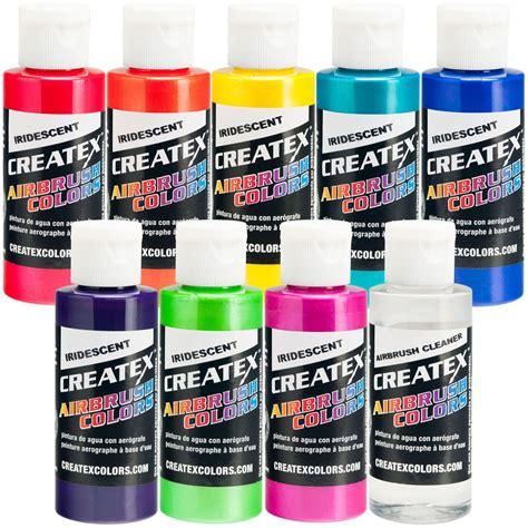 createx 8 colors 2oz iridescent airbrush paint kit hobby craft ebay