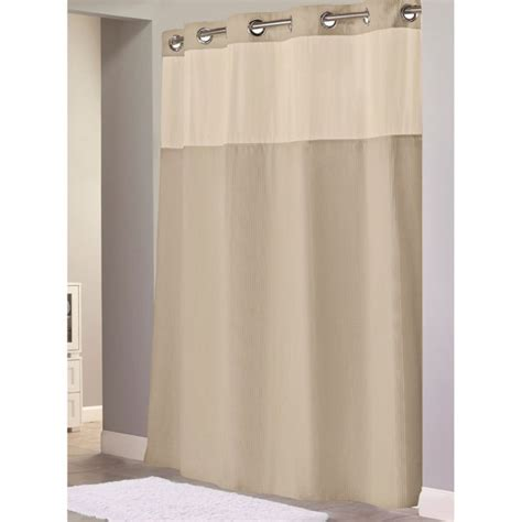 hookless 174 waffle 71 inch x 74 inch fabric shower curtain