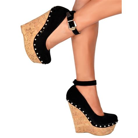 black wedges with ankle pixshark com images