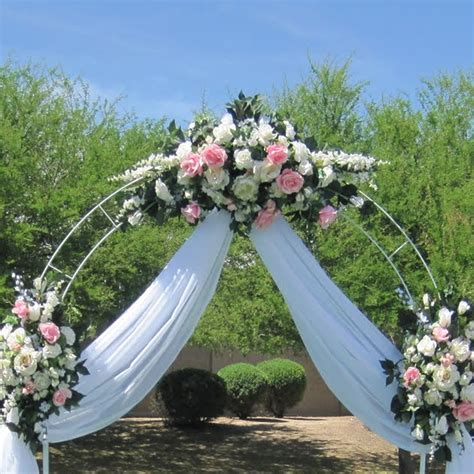 75 Ft White Metal Tall Arch Wedding Garden Bridal Party